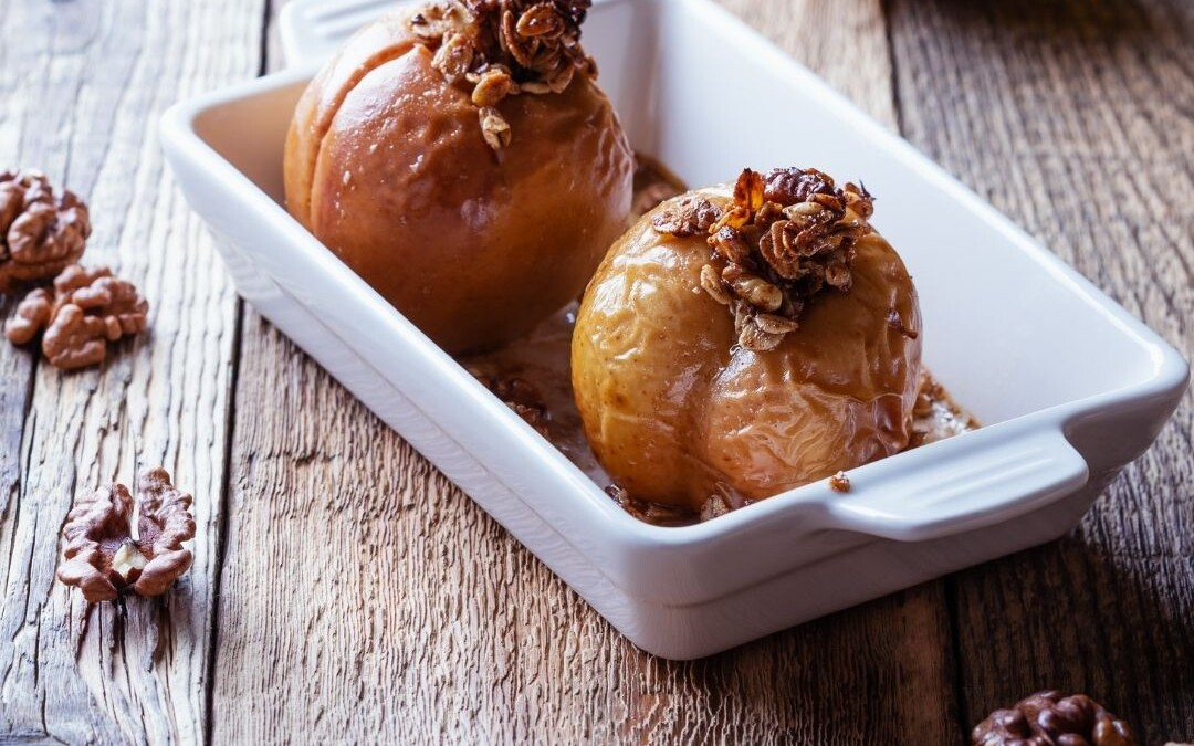 Apples Baked In Maple Syrup